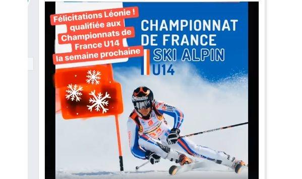 Léonie aux Championnats de France U14 !